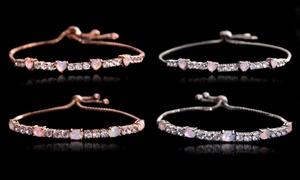 Fiery Opal Tennis Bracelet With Swarovski Crystals by Nina & Grace