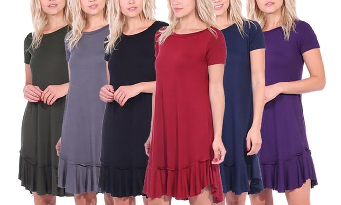 7d2ce4c4a0f Up To 74% Off on Women s Ruffle-Hem Dress
