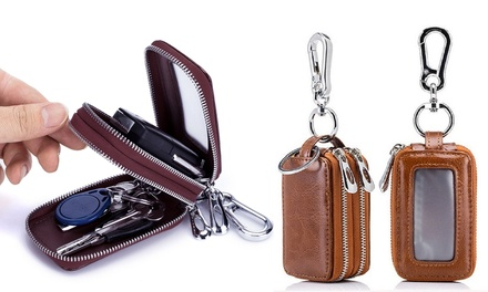 One (AED 69) or Two (AED 119) Leather Car Key Chain Holders