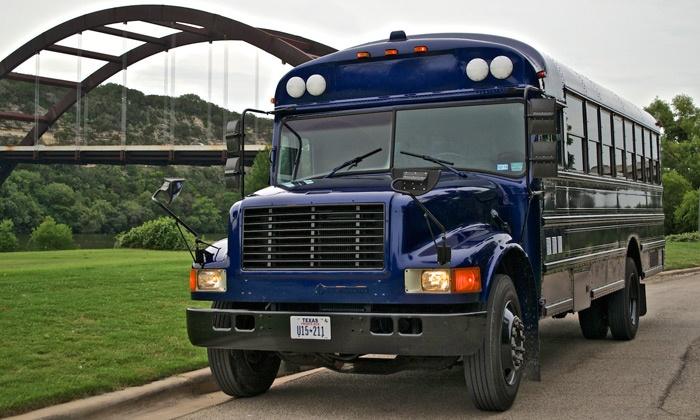 Austin Nites Entertainment - Northwest Austin: Three-, Four-, or Six-Hour Party Bus Rental from Austin Nites Entertainment (Up to 60% Off)