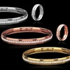 Ladies' Crystals Eternity Bangle and Ring Set in Stainless Steel