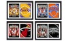 """Encore Select NBA """"Greats"""" Double Matted Framed Pictures"""