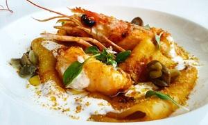 Ristorante L'Arcobaleno: Menu di pesce alla carta con dolce e vino per 2 o 4 persone al Ristorante L'Arcobaleno (sconto fino a 57%)