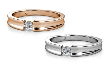 1 o 2 anillos adornados con cristal de Swarovski®