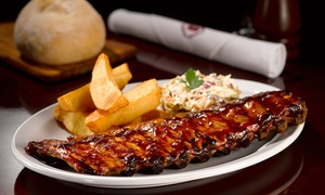 Tucson Steak House & Bar: Almuerzo o cena menú estilo americano de tres pasos + bebida con refill para dos o cuatro en Tucson Steak House & Bar