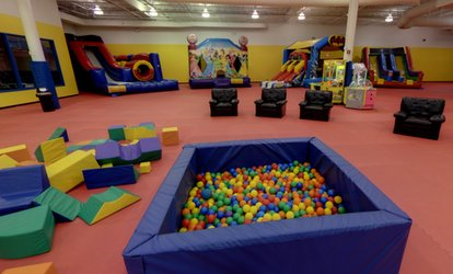 image for Open Play Admission for One, Two, or Four Children 3-12 Years Old at Bounce Around (Up to 46% Off)