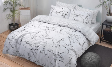 Easy Care Reversible Duvet Set