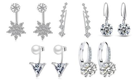 Five-Pair Set of Earrings