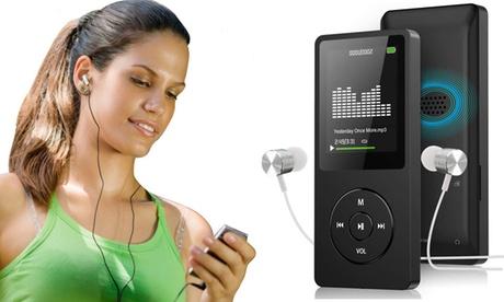 Reproductor MP3 ultradelgado y tarjeta Micro SD de 32 gb