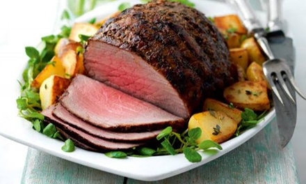 ThreeCourse Sunday Roast with Sides and Wine for Two at George's Restaurant at Ramada Birmingham Solihull