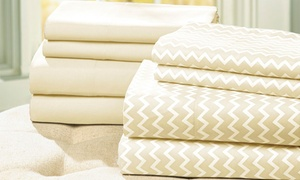 Haight Ashbury Collection Coordinating Solid/chevron Sheet Sets (2-pack)