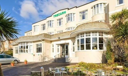 Torquay: One Night for Two with Breakfast and Option for Dinner and Bottle of Wine at Trecarn Hotel