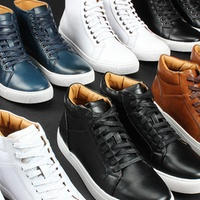 Groupon.com deals on Harrison Mens Ankle Lace-Up Sneakers