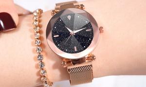 (Bijou)  Montre bracelet acier inoxydable -81% réduction