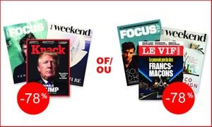 Roularta Media Group N.V.: Un abonnement de 8 semaines au magazine Le Vif/L'Express pour 9,99€