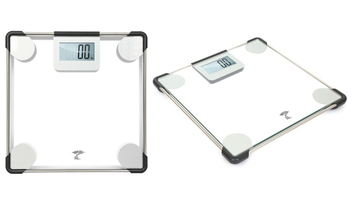 Clear Gl Precision Digital Bathroom Scale With 400 Lb Capacity