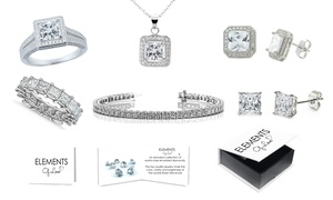 Princess Cut Jewelry Made with Swarovski Elements by Elements of Love