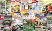 Abonnement d1 an aux magazines Auto Moto, Le journal de la maison, Campagne décoration, Gourmand...  dès 15 €