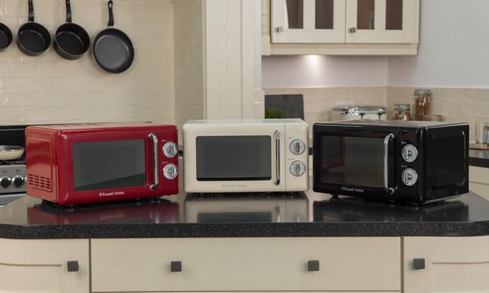 Retro Tabak Keukens : Russell hobbs retro microwave groupon goods