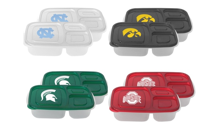 NCAA 22oz. Lunch Containers (2-Pack)