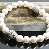 Cubic Zirconia Bead Adorned with Crystal Pearls from Swarovski® by Pink Box