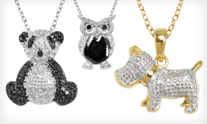 Diamond-Accented Animal Pendants: $19 for Diamond-Accented Animal Pendants (Up to $89.99 List Price). Eight Options Available. Free Shipping and Returns.