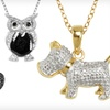 $19 for a Diamond-Accented Animal Pendant