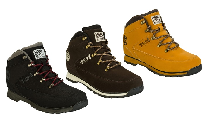 shop best sellers unique design hot products Men's Henley Boots | Groupon