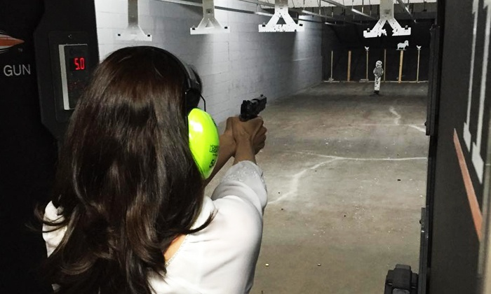 Wilshire Gun Range - Nichols Hill: Range Package for Two with Optional Ammunition, Appetizer, and Drinks at Wilshire Gun Range (Up to 64% Off)