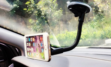 LAX Magnetic Car Mount Long Arm for Smartphone or GPS Devices