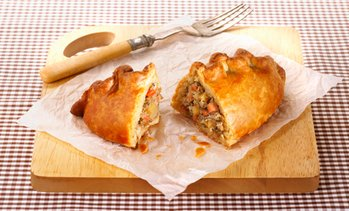 Cornish Pasty with Drink
