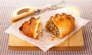 Hanleys Cornish Pasties: Two Cornish Pasties and Two Drinks from Hanleys Cornish Pasties (Up to 53% Off)