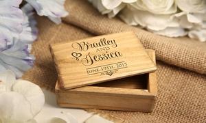 Cabany Co: Boîte à bijoux avec votre message personnel gravée en bois