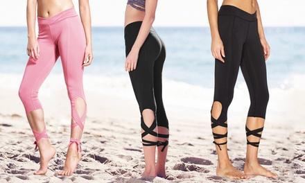 Trendy zomersportleggings ideaal voor yoga, dansen of het strand in 2 kleuren verkrijgbaar