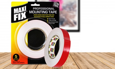 One, Two or Four Packs of MaxiFix Strong Double-Sided Mounting Tape