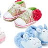 Baby Sneakers or Slippers (Sizes 6M–12M)