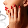 Plus Size Swarovski Zirconia Engagement Ring in Sterling Silver