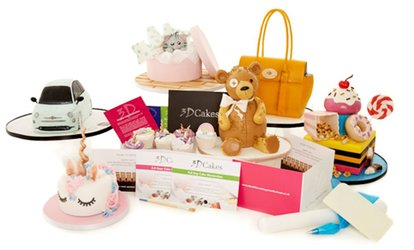 Choice of 2.5 Hour or Full Day Cake Masterclass Gift Pack for one or two at 3D Cakes