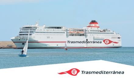 50 % de descuento en 1 Billete de ida y vuelta en ferry de Valencia o Barcelona a Palma o Ibiza con Trasmediterránea
