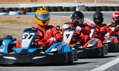 15 Minutes of Outdoor Go-Karting Experience for Up to Four at Sahara Amusement