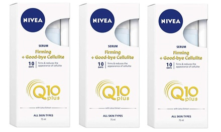 $17 for a Three-Pack of Nivea Firming Good-Bye Cellulite Serum Q10 Plus 75ml(Don't Pay $228)
