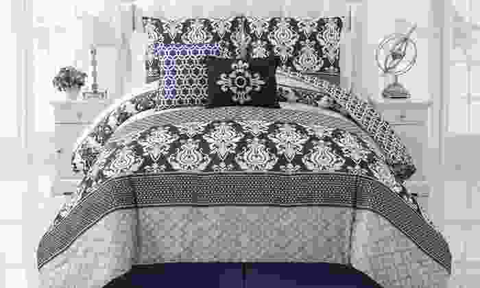 5-Piece Reversible Comforter Sets: 5-Piece Reversible Comforter Sets in Bernard Gray/Blue, Colin Blue, or Torrey Spice. Free Shipping and Returns.