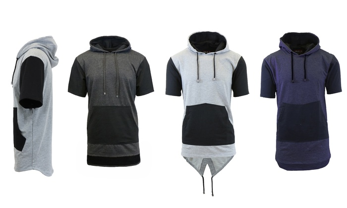 Men's Short Sleeve Scalloped, Fish Tail, or Long Line Hoodie