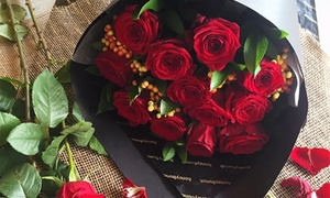 The Honeybunch Shop: Half a Dozen Red Roses, Pick-up ($30) or Dozen Red Roses Delivery ($89) from The Honeybunch Shop (Up to $135 Value)