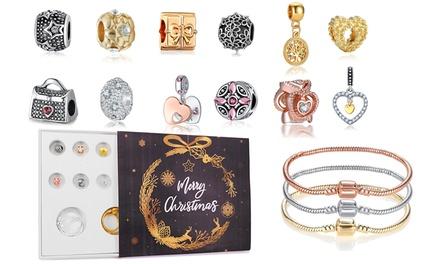 Coffret cadeau bracelets et charms de la marque Btime ornés de cristaux Swarovski® – Merry Christmas