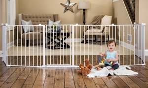 """Regalo 4-in-1 Extra Large 192"""" Child Safety Gate and Metal Playard"""