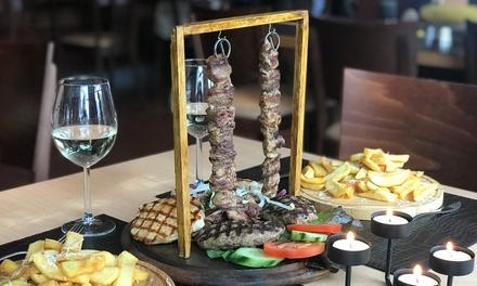 Griechisches 4 Gänge Menü für 2 oder 4 Personen im EssBar Restaurant Cafè (bis zu 45% sparen*)