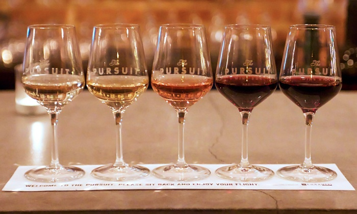The Pursuit Wine Bar - Washington: Two Standby Wine Flights with Optional Food at The Pursuit Wine Bar (Up to 42% Off)