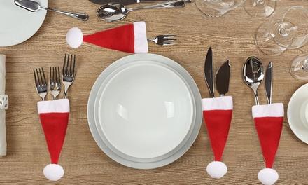 Porte couvert pour no l groupon shopping - Addobbi natalizi per tavola da pranzo ...