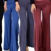 Lyss Loo Fold-Over Palazzo Flare Pants